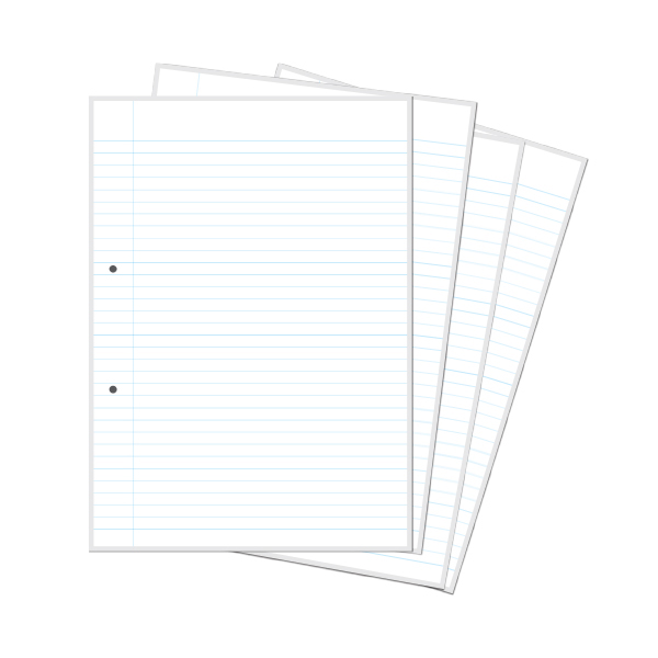 A Notebook Paper  Single Line Interleaf  Sona Edons